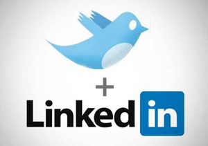 The LinkedIn & Twitter Logos